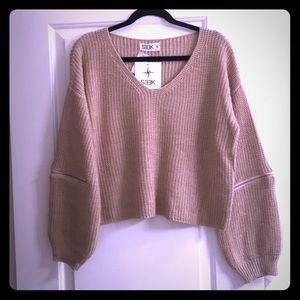 LF Seek the Label Zipper Sweater Size Small